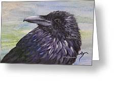 Raven Greeting Card