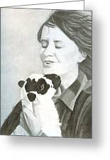 Raven O'keefe And Minnie Greeting Card