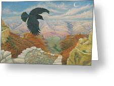 Raven Over The South Rim  Greeting Card