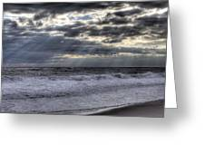 Rays Over The Atlantic Greeting Card
