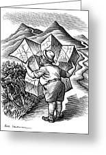 Reading A Map, Artwork Greeting Card