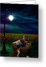 Reading Light Greeting Card by Michael Taggart