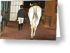 Ready For The Dressage Lesson Greeting Card