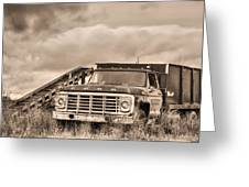 Ready For The Harvest Sepia Greeting Card