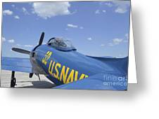 Rear View Of A F8f Bearcat Parked Greeting Card