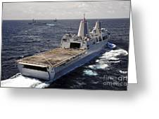 Rear View Of Uss Green Bay Greeting Card