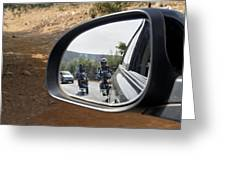 Rear View Riders Greeting Card