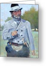 Rebel Dandy Greeting Card by Sandra Harris
