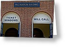 Rec Hall Greeting Card
