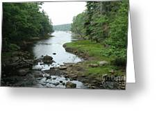 Receding Tide In Maine Part Of A Series Greeting Card