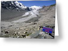 Recession Of The Pasterze Glacier Greeting Card