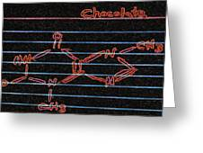 Recipe For Chocolate Greeting Card