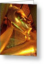 Reclining Buddha 2 Greeting Card