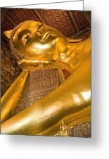 Reclining Buddha At Wat Pho, Low Angle Greeting Card