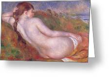 Reclining Nude In A Landscape Greeting Card
