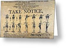 Recruiting Broadside, C1798 Greeting Card
