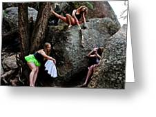 Recruiting Wild Untamed Dancers Greeting Card