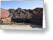 Recycle Dump Site Or Yard For Steel Greeting Card