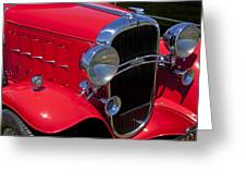 Red 1932 Oldsmobile Greeting Card