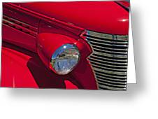 Red 1938 Chevy Coupe Greeting Card