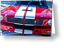 Red 1966 Mustang Shelby Greeting Card