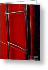 Red And Black Train Ladder Greeting Card