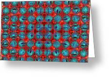Red And Blue Abstract Greeting Card