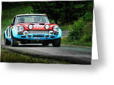 Red And Blue Fiat Abarth Greeting Card