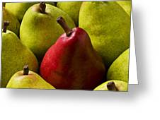 Red And Green Pears  Greeting Card