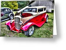 Red And White Chop Top Greeting Card