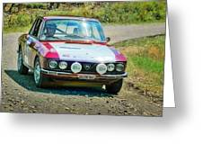 Red And White Lancia Greeting Card