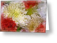 Red And White Mums Photoart Greeting Card