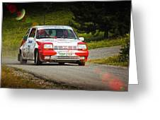 Red And White Renault 5 Greeting Card
