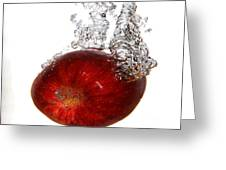 Red Apple Dropped Greeting Card
