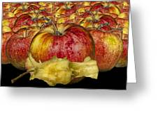 Red Apples And Core Greeting Card