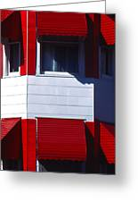 Red Awnings Greeting Card