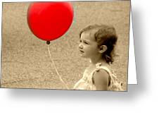 Red Baloon Greeting Card