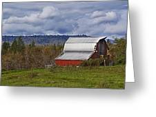 Red Barn With Tin Roof Greeting Card