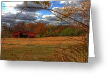 Red Barn1 Greeting Card