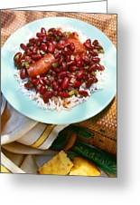 Red Beans And Rice Greeting Card