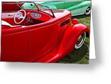 Red Beautiful Car Greeting Card