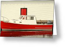 Red Boat Red Door Greeting Card