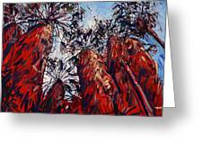 Red Borrego Palms Greeting Card by Erin Hanson