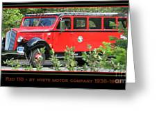 Red Bus 110 Greeting Card