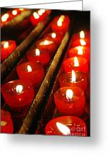 Red Candles Greeting Card