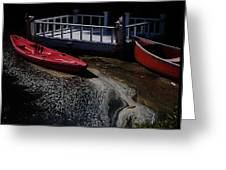 Red Canoes Greeting Card by Daniele Smith