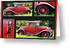 Red Car Greeting Card by Lorraine Louwerse