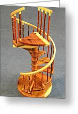 Red Cedar Rustic Spiral Stairs Greeting Card