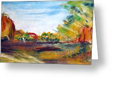 Red Centre Greeting Card