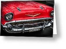 Red Chevvy Greeting Card